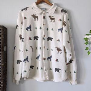 Artisan Sunschein Designs Bear Moose Wolf Sweater